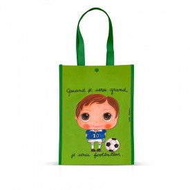 Little Shopping Bag Footballer by Isabelle Kessedjian