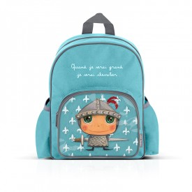 Small backpack with pockets: Quand je serai grand, je serai chevalier by Isabelle Kessedjian