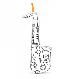 Saxophone to colour by Marielle Bazard