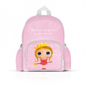 Small backpack with pockets: Quand je serai grande, je serai princesse by Isabelle Kessedjian