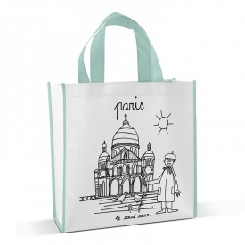 Shopping bag to colour Sacré Cœur by Marielle Bazard