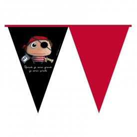Party banner flag Pirate by Isabelle Kessedjian