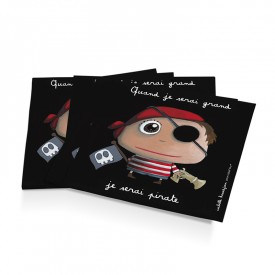 12 paper napkins Pirate by Isabelle Kessedjian