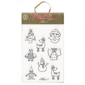 Christmas decoration set by Marielle Bazard