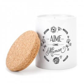 Ceramic candle: Aime comme Maman