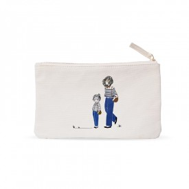 Small pouch: Mother and daughter in jeans