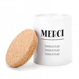 Ceramic candle: Merci