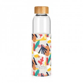 """Abstract"" glass bottle"