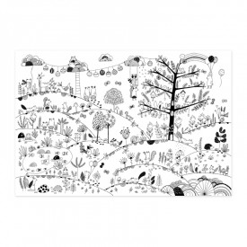 "Poster to colour in ""Magical Forest"""
