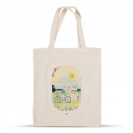 Let's go to the sea cotton bag