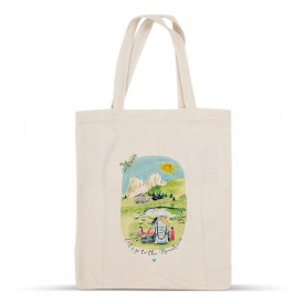 Let's go to the Mountain cotton bag