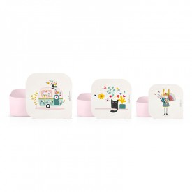Set of 3 lunch boxes Caravan