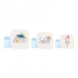 Set of 3 lunch boxes Holiday