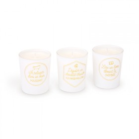 "Set of 3 scented candles ""Moments for oneself"""