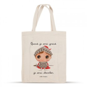 Cotton bag: When I grow up, I will be a knight