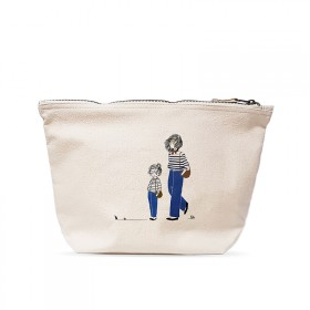 Large pouch: Mother and daughter in jeans