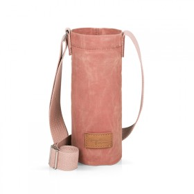 Pink bottle holder bag