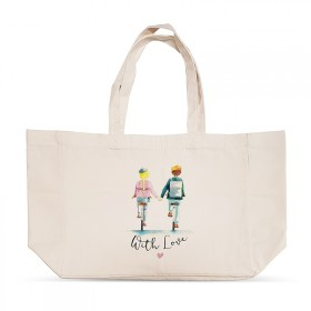 """With love"" shopping bag"