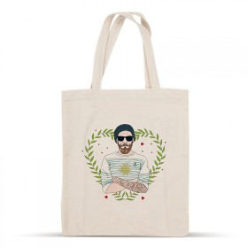 Cotton bag Hipster