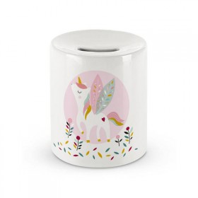 Ceramic money box: Unicorn