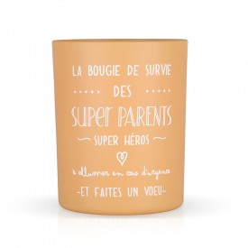 "Scented candle ""La bougie des super parents"" by Créa bisontine"