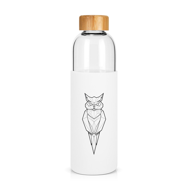 """Owl"" large glass bottle by Label'tour créations"