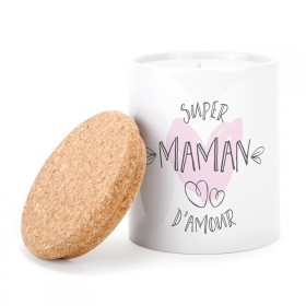 Ceramic candle: Super maman d'amour