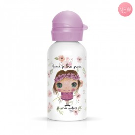 Children flask Nature for girl pink by Isabelle Kessedjian