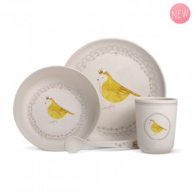 Complete bamboo fibre dinner set for babies and children. by Gaëlle Duval