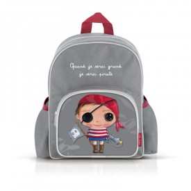 Small backpack with pockets: Quand je serai grand,je serai pirate by Isabelle Kessedjian