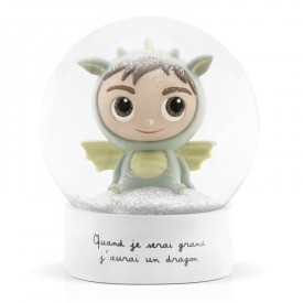 Snow globe Dragon by Isabelle Kessedjian