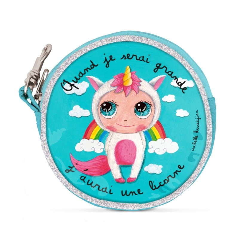 Round purses Unicorn by Isabelle Kessedjian