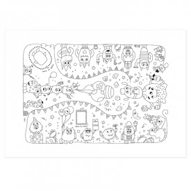 "Tablecloth ""Little monsters party"" by Label'tour créations"