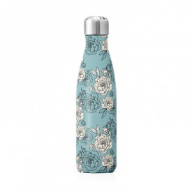"Insulated bottle ""Peonies"" by Label'tour créations"