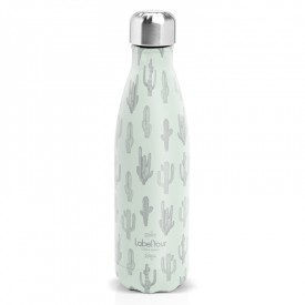 "Insulated bottle ""Cactus"" by Label'tour créations"