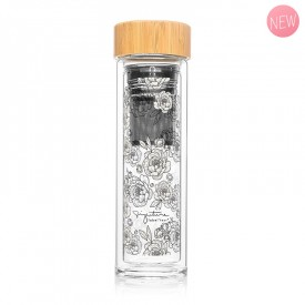 "Infuser bottle ""Peonies"" by Label'tour créations"
