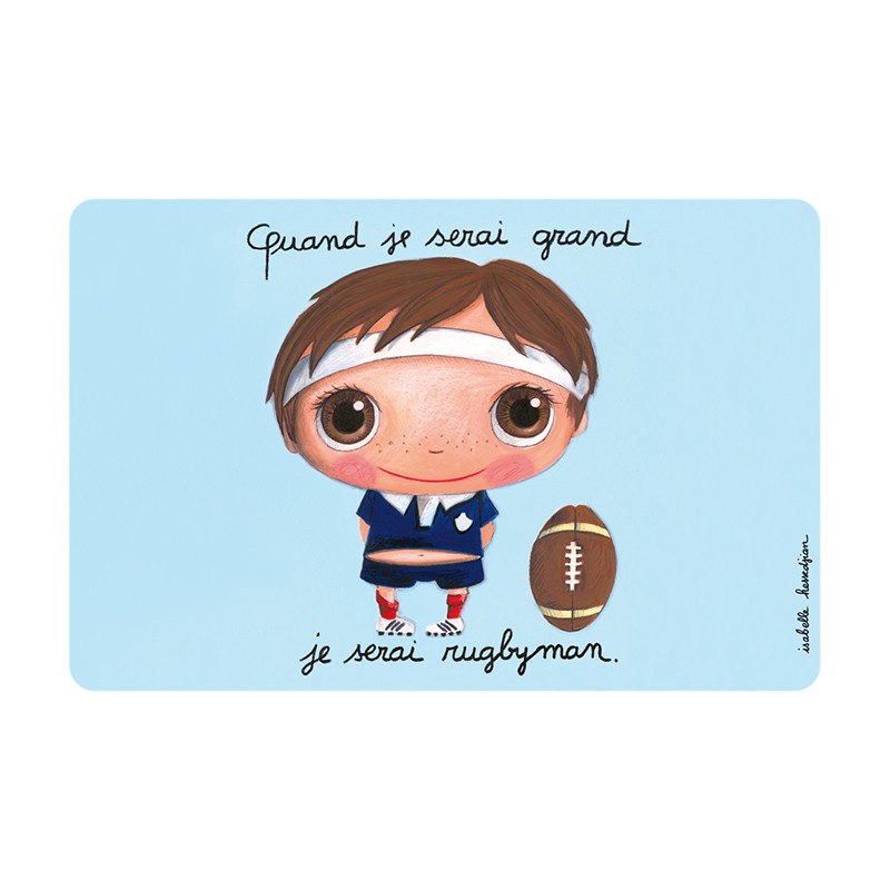 Placemat Rugby by Isabelle Kessedjian