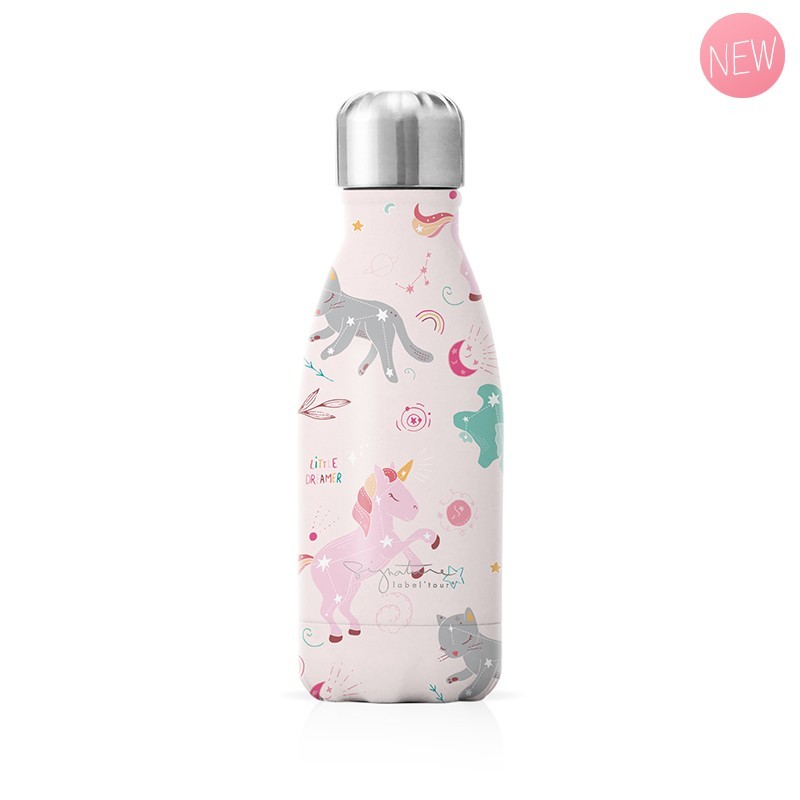 """Small insulated bottle """"Unicorn"""" by Label'tour créations"""