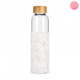 """Hibiscus"" glass bottle by Label'tour créations"