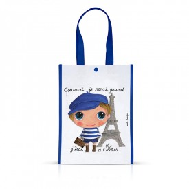 Little Shopping Bag Paris boy by Isabelle Kessedjian