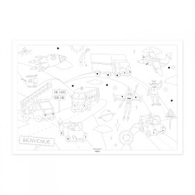 "Poster to colour in ""Space travel"""