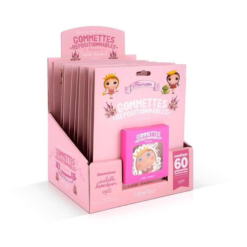 10 removable stickers display princess by Isabelle Kessedjian