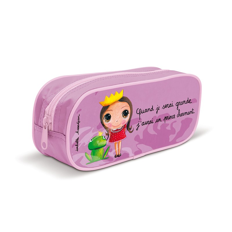"Pencil case ""I'll find my Prince Charming"" by Isabelle Kessedjian"