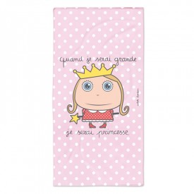 "Bath/Beach towel ""Princess"" by Isabelle Kessedjian"