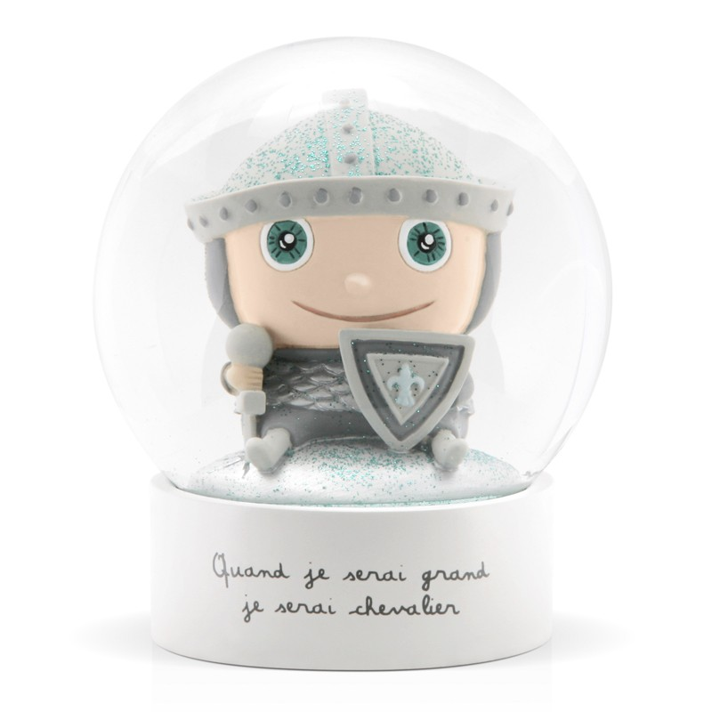 Snow globe Knight by Isabelle Kessedjian