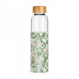 """Tropical"" glass bottle by Label'tour créations"