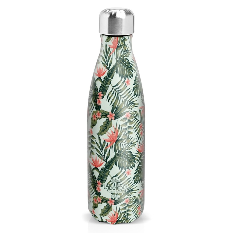 "Insulated bottle ""Tropical"" by Label'tour créations"