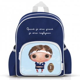 "Big size backpack ""Rugby player"" by Isabelle Kessedjian"