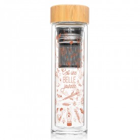 "Infuser bottle ""C'est un belle journée"" by Créa bisontine"