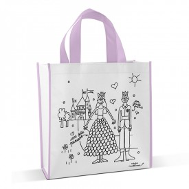 Shopping bag to colour Princess by Marielle Bazard